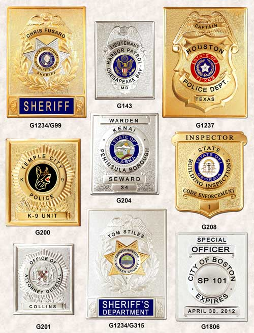 GA-REL Police Badge Rectangles GAREL